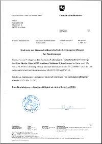 Nachweis zur Steuerschuldnerschaft des Leistungsempfänger bei Bauleistungen. Gültigkeit bis 04.04.2020